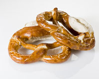 Bretzel. A pair of bretzel, salt and crosta croccante Royalty Free Stock Image