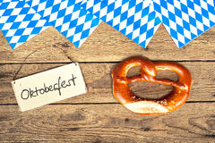 Bretzels on wooden background Royalty Free Stock Photography