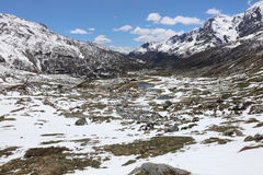 Breuil-Cervinia en Valtournenche D'Aosta de Valle Imagen de archivo libre de regalías