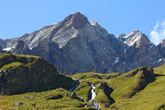 Breuil Cervinia landskap Arkivbild