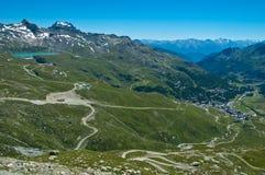 Breuil Cervinia - valle de Aosta Imágenes de archivo libres de regalías