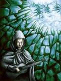Breuk in muur 2 Stock Afbeelding