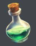 Breuvage magique magique vert UI illustration de vecteur