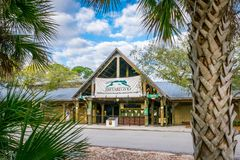 Brevard Zoo Melbourne Florida. MELBOURNE FLORIDA, FEB 23 2019: Brevard Zoo is a 75 acre facility located in Melbourne, Florida. The zoo is home to more than 900 stock image