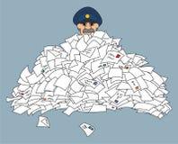 brevbärare Arkivbild