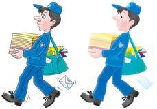 brevbärare vektor illustrationer