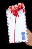 brevbärarezombie Fotografering för Bildbyråer
