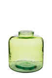 Breve Crystal Vase cilindrico verde Immagine Stock