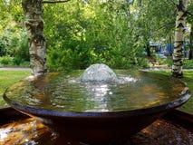 Breve fontana immagine stock
