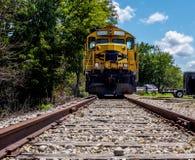 Breve treno che non corre Fotografie Stock