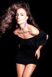 Breve vestito nero Fotografie Stock