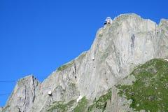 Brevent elevator i Chamonix royaltyfria bilder