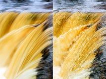 Brevi ed esposizioni lunghe di una cascata Fotografia Stock Libera da Diritti