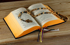 Breviary book and holy Rosary Royalty Free Stock Photo