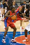 Brevin Knight Guards Chauncey Billups Royalty Free Stock Photos