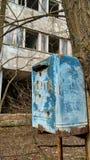Brevlåda i Pripyat Arkivbilder