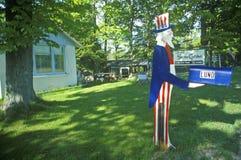 Brevlåda med utklipp för Uncle Sam Fotografering för Bildbyråer