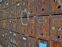 brevlådor Arkivfoton