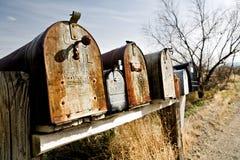 brevlådor midwest gammala USA arkivbild