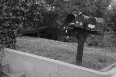 brevlådor tre Arkivbilder