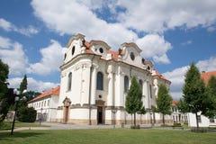 Brevnov kloster, Prague, Tjeckien Royaltyfri Fotografi