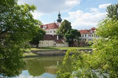Brevnov kloster, Prague, Tjeckien Fotografering för Bildbyråer