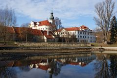 Brevnov monastery in Prague Royalty Free Stock Images