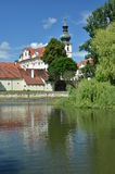 Brevnov Monastery in Prague. Baroque Brevnov Monastery in Prague - Czech Republic Royalty Free Stock Photography
