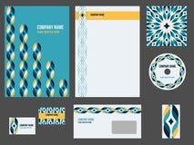 Brevpapper för företags identitet för händelse eller företag Arkivfoto