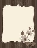 Brevpapper med blom- garnering Arkivfoton