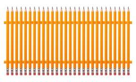 Brevpapper - staket från blyertspennor arkivfoton
