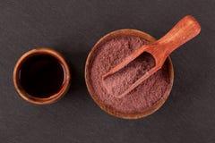 Brew Ayahuasca на черной предпосылке стоковые фото