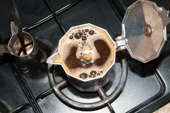 Brew coffee on gas...... Stock Images