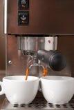 Brew del caffè espresso Immagini Stock Libere da Diritti