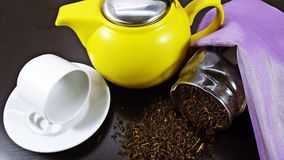 Cup of tea a pleasure. Royalty Free Stock Image