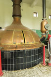 Brew kettle at Brewery 'Het Sas' in Boezinge, Belgium. Royalty Free Stock Photo