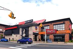Brew pubs in St. John`s, Newfoundland stock photo