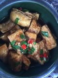 Stuffed bean curd. Brewed bean curd, a domestic vegetable in the south of the Yangtze River Royalty Free Stock Photography