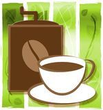 Brewed Coffee Representing Restaurant Roasted And Cafe. Brewed Coffee Cup Representing Restaurant Roasted And Cafe vector illustration