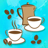 Brewed Coffee Indicates Roasted Brewing And Freshness. Brewed Coffee Meaning Drink Cafe And Beverages vector illustration