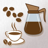 Brewed Coffee Represents Restaurant Caffeine And Drink. Brewed Coffee Indicating Restaurant Barista And Drinks vector illustration