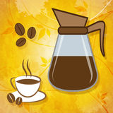 Brewed Coffee Shows Roasted Caffeine And Freshness. Brewed Coffee Meaning Caffeine Cafe And Beverages vector illustration