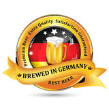 Brewed in Germany - Premium Beer Extra quality Royalty Free Stock Photo