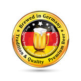 Brewed in Germany , Tradition and quality - beer advertising Royalty Free Stock Photography