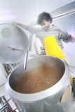 Brewer controls the firing of the beer Royalty Free Stock Photo
