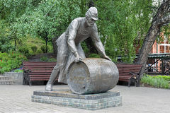 The Brewer Monument in Tomsk, Russia Royalty Free Stock Photo