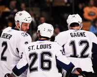 Brewer, St. Louis and Gagne, Tampa Bay Lightning. Stock Photo
