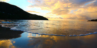 Brewers Bay of Tortola - BVI. A beautiful sunset over Brewers Bay on Tortola - British Virgin Islands Royalty Free Stock Image