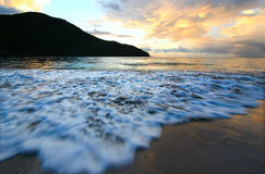 Brewers Bay of Tortola - BVI. Calm waves wash ashore at Brewers Bay on Tortola - British Virgin Islands Stock Photography