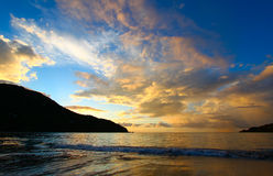 Brewers Bay of Tortola BVI. Evening sets in over Brewers Bay on Tortola - British Virgin Islands stock image